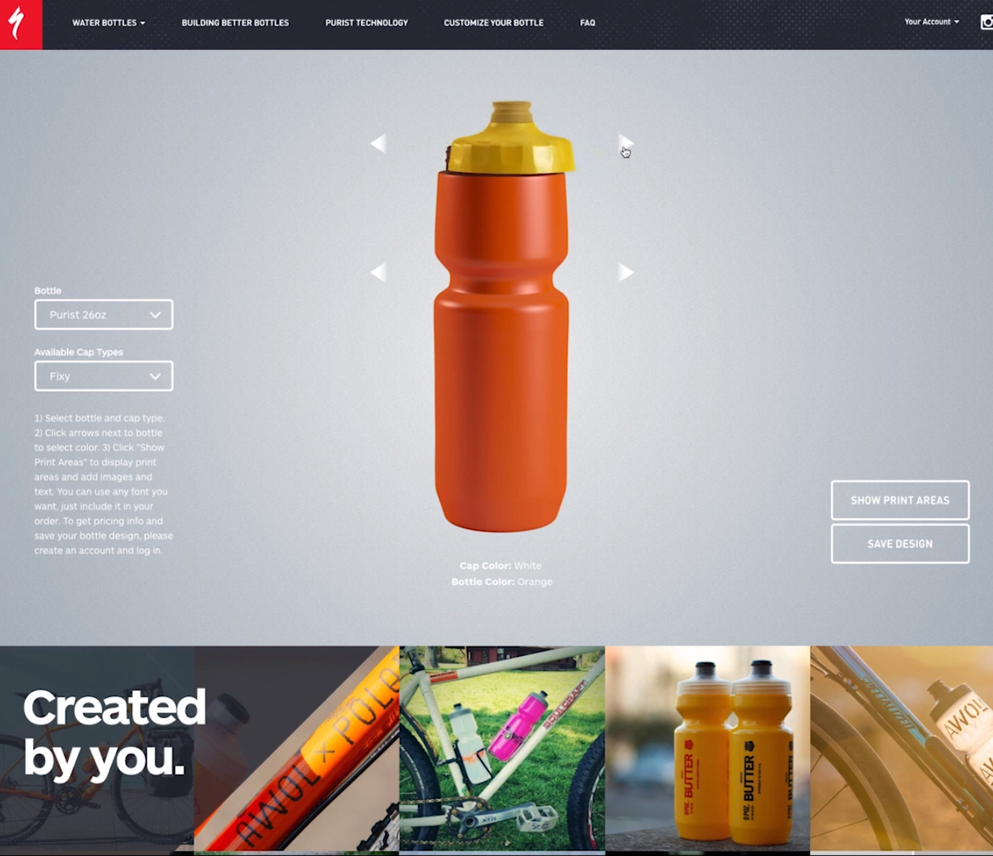 Specialized Water Bottles Website